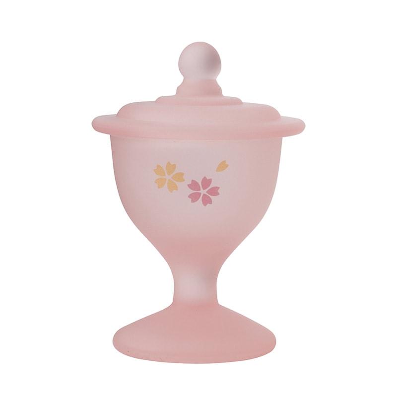 くもりガラス 水入れ(ピンク)の商品画像1