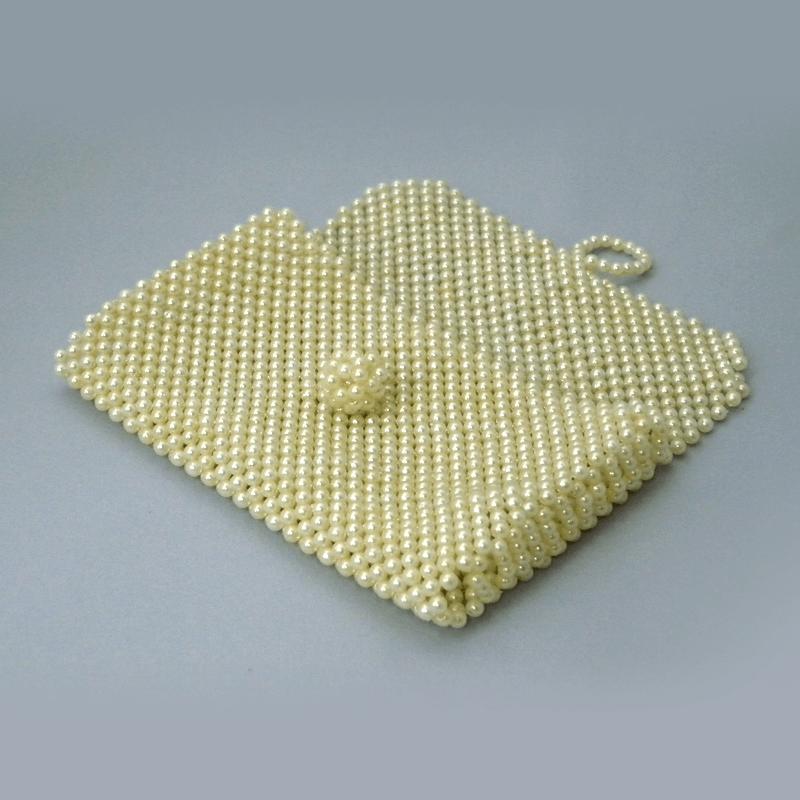 ビーズ念珠ケース(アイボリー)の商品画像1