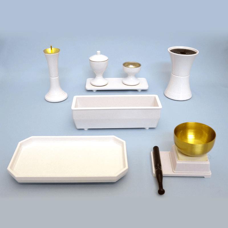 PC仏具セット ビクトリー(ホワイト)の商品画像1