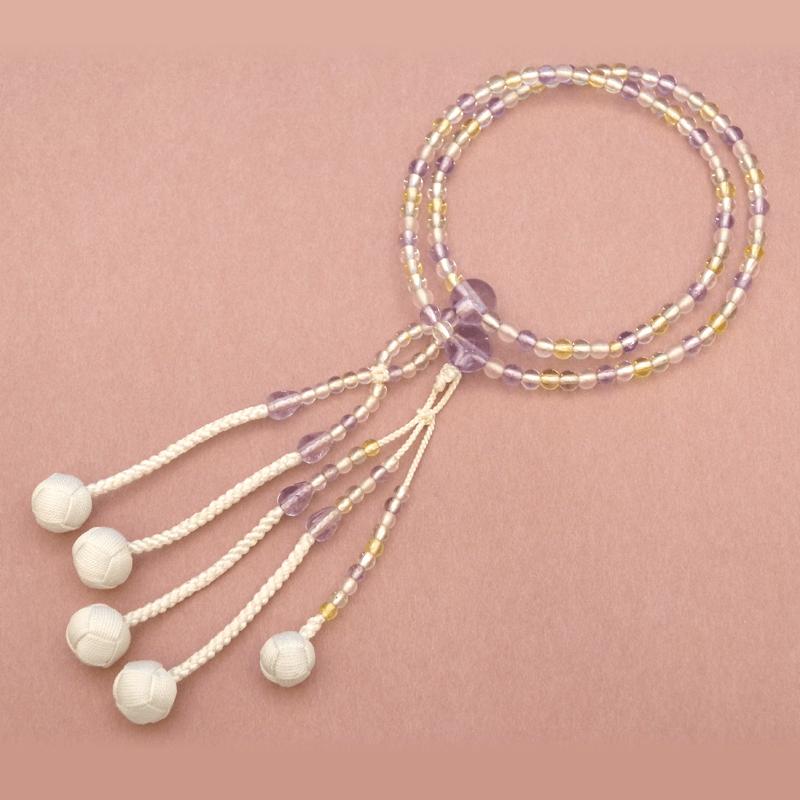 五色(ごしき)本水晶念珠の商品画像1