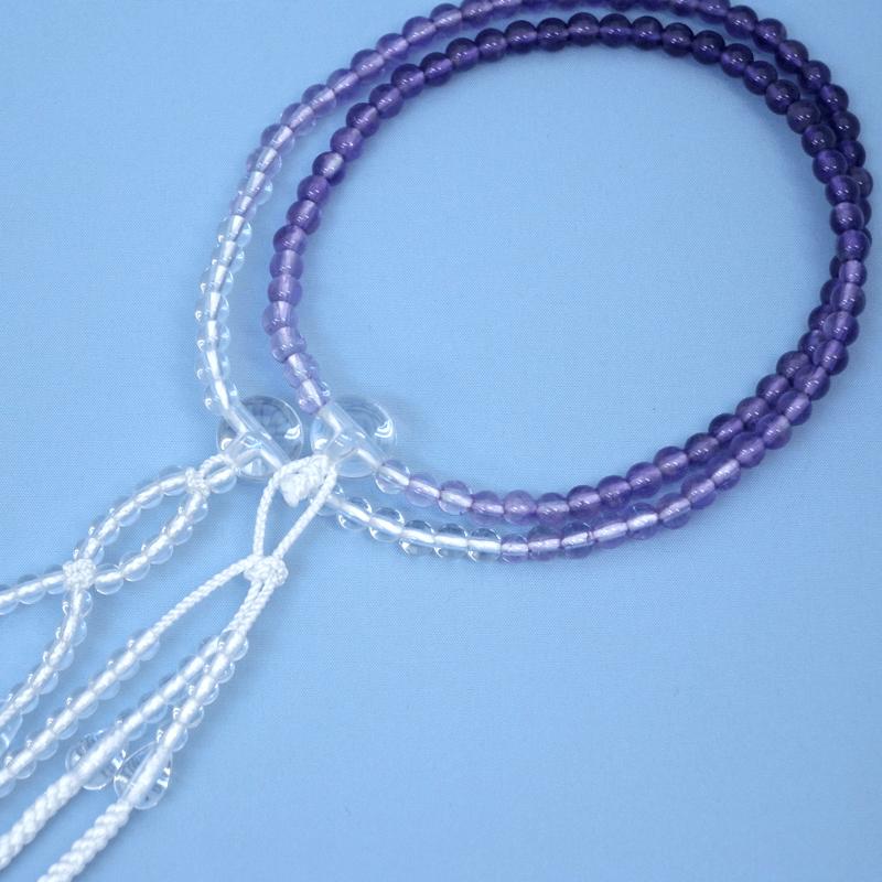 紫水晶グラデーション念珠の商品画像1