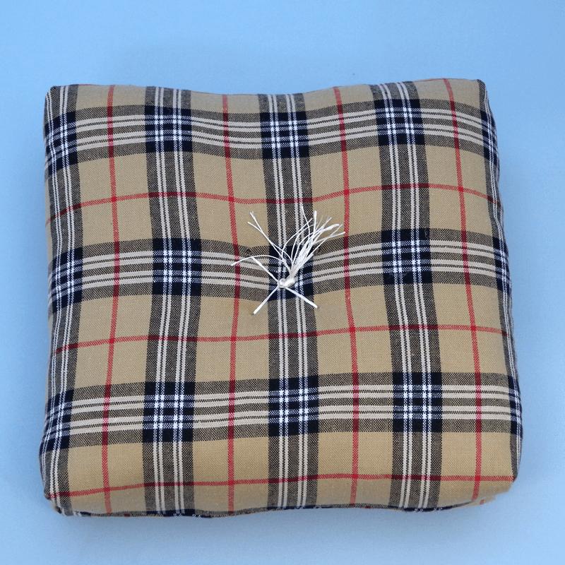 チェック柄りん布団の商品画像1