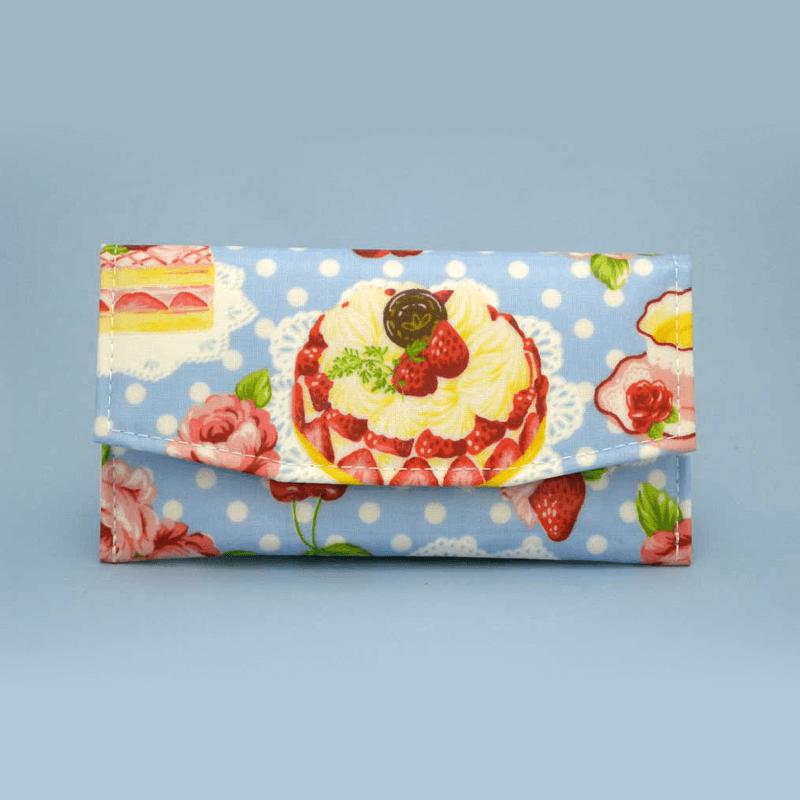 ケーキ柄念珠ケース 【サックスブルー】の商品画像1