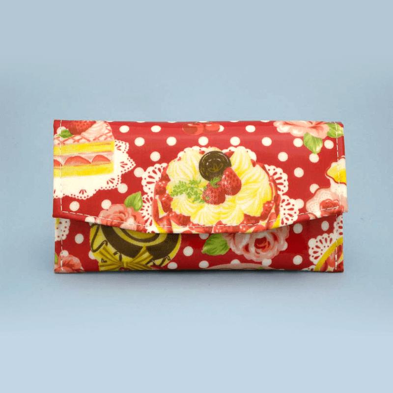 ケーキ柄念珠ケース 【レッド】の商品画像1
