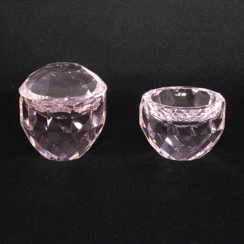 クリスタル仏茶器セット(ピンク)の商品画像1