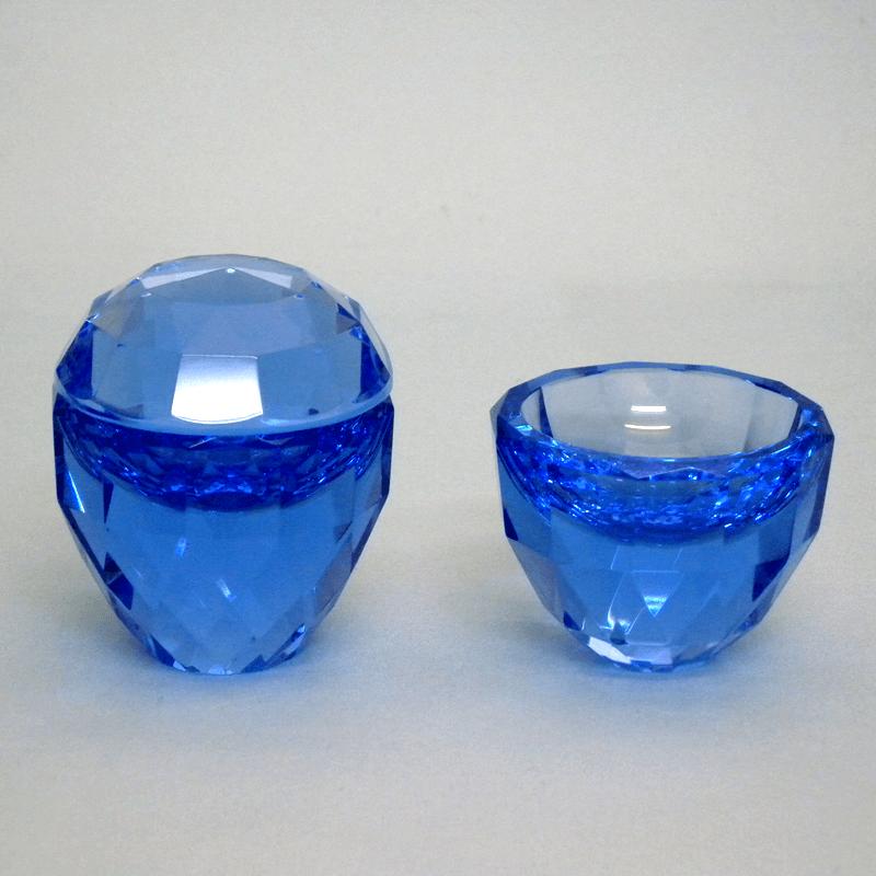 クリスタル仏茶器セット(ブルー)の商品画像1