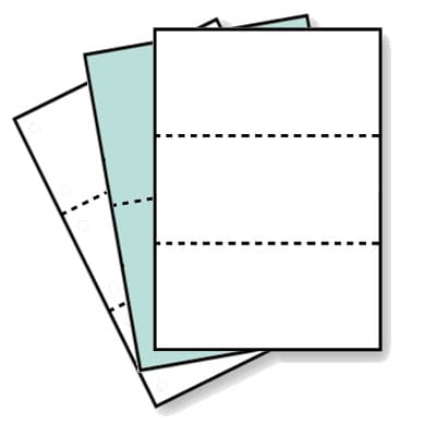 ミシン目入り用紙 画像