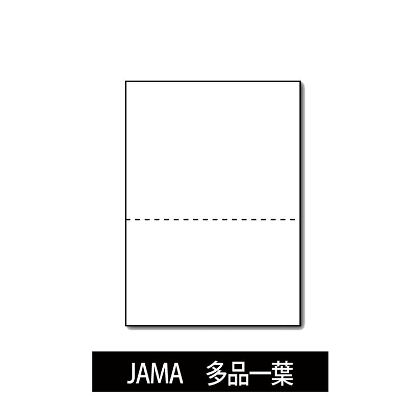 プリンター帳票 JAMA・JAPIA EDI標準帳票 多品一葉 穴なし A4 画像