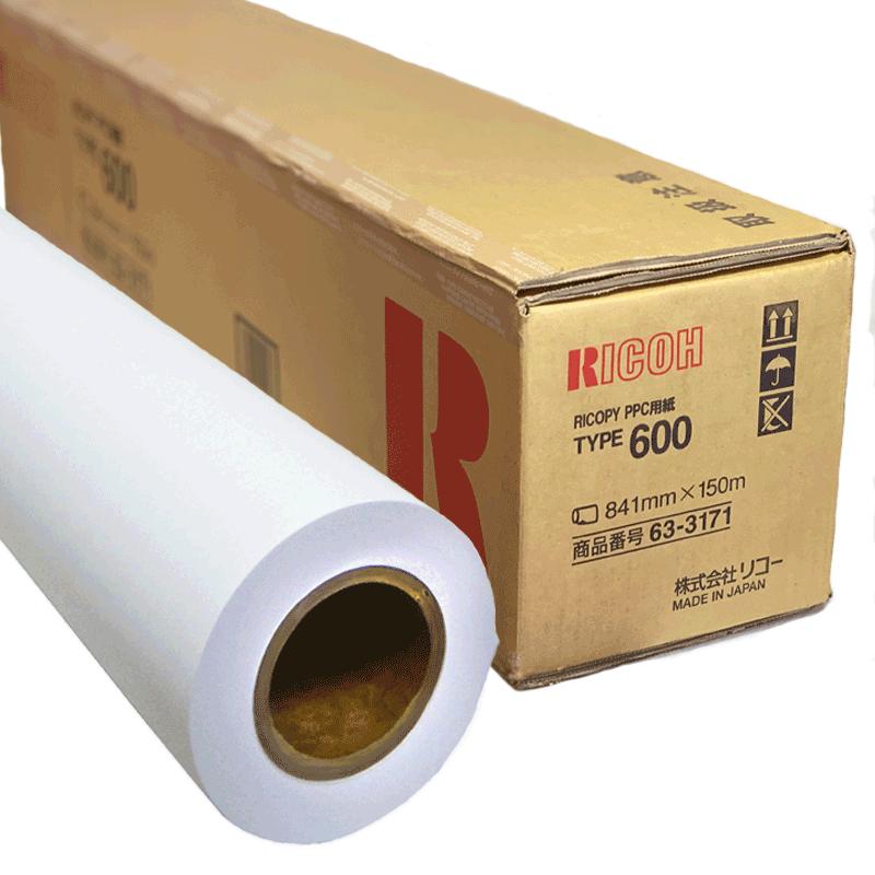 プロッターロール紙 リコピー タイプ600 画像