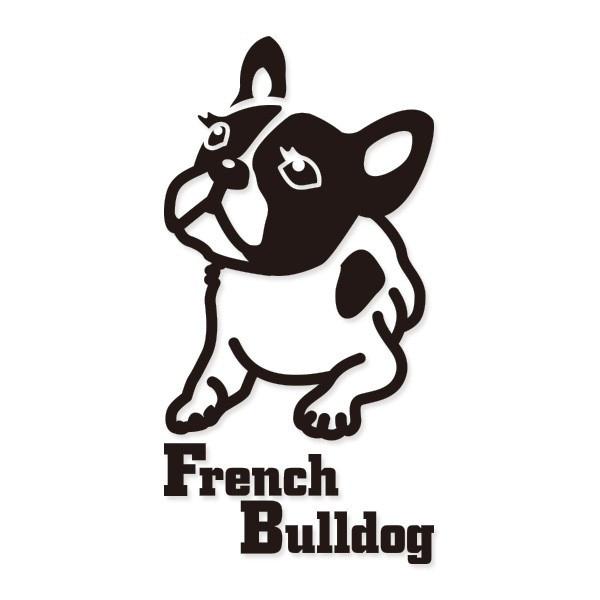 犬 ステッカーフレンチブルドック