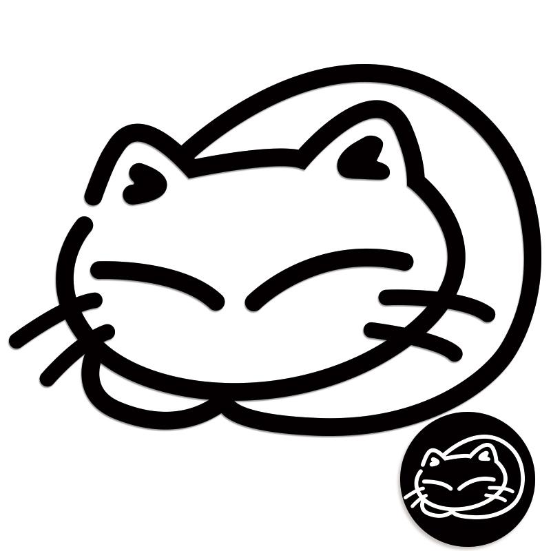 ねこ ステッカー 子猫まる