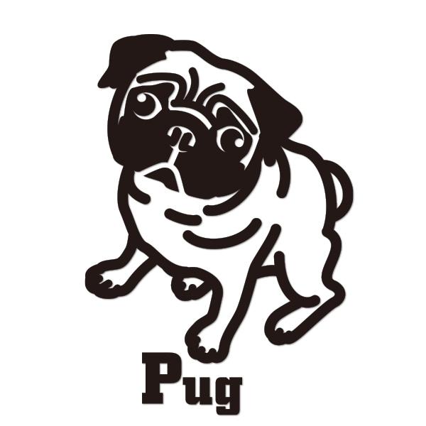 犬 ステッカー パグ