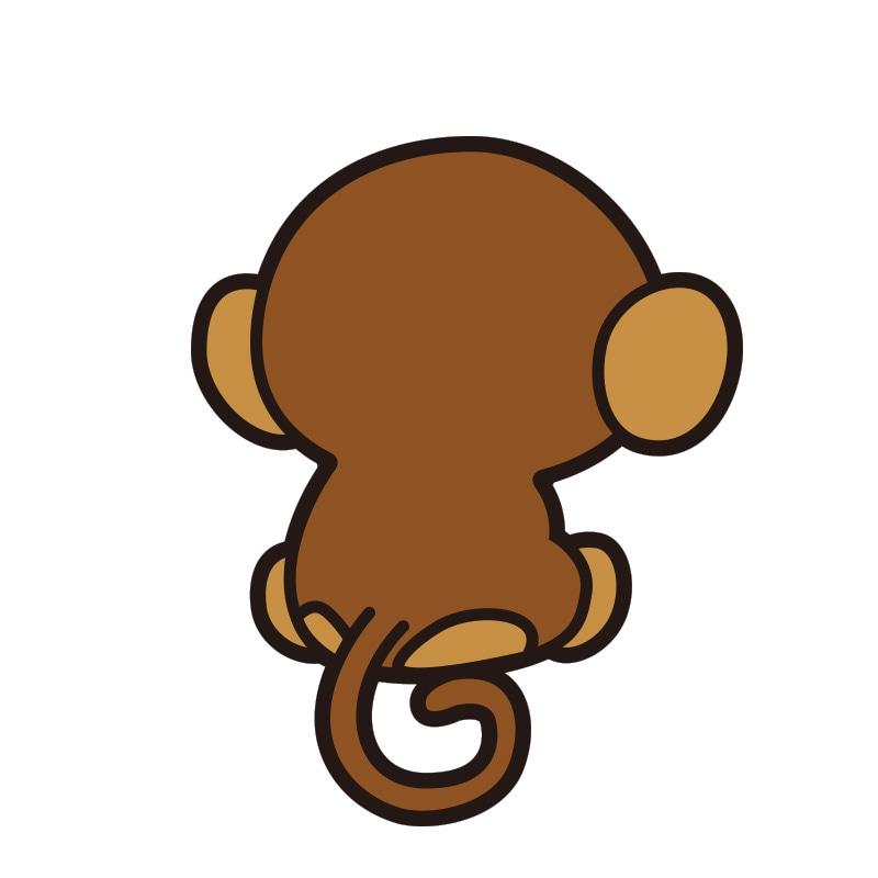 動物 ステッカー さる 猿