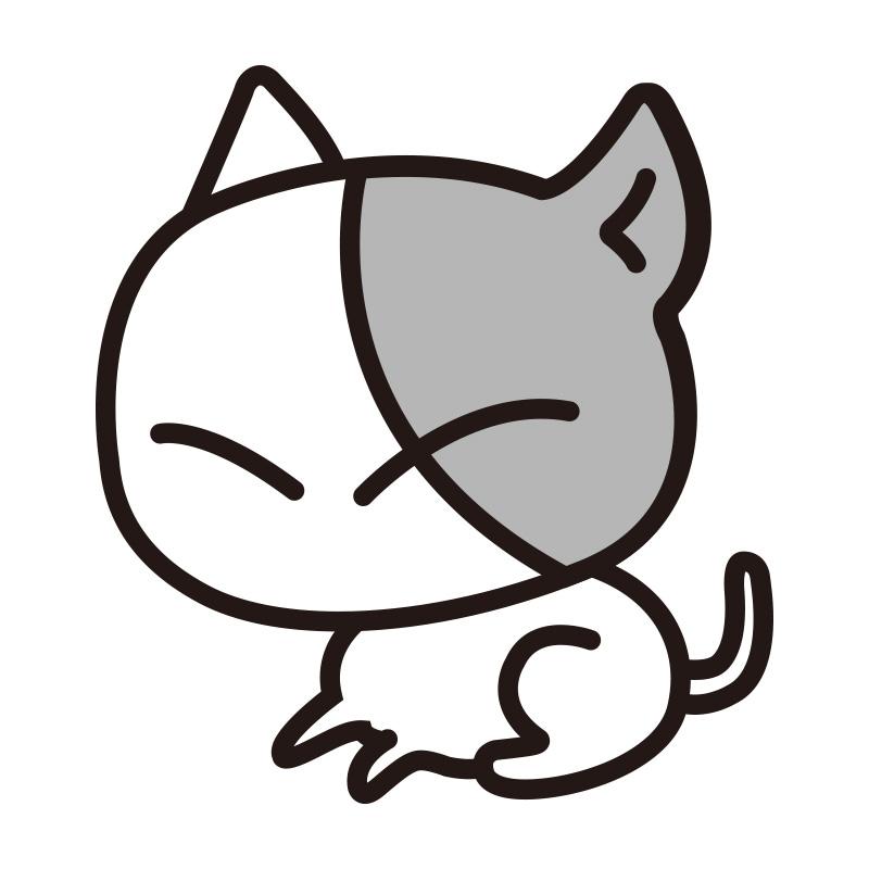 ねこ ステッカー 猫のちび