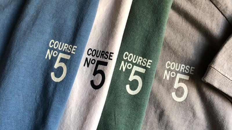 別注 ピグメント染 COURSE No5 ラグラン 半袖 Tシャツ
