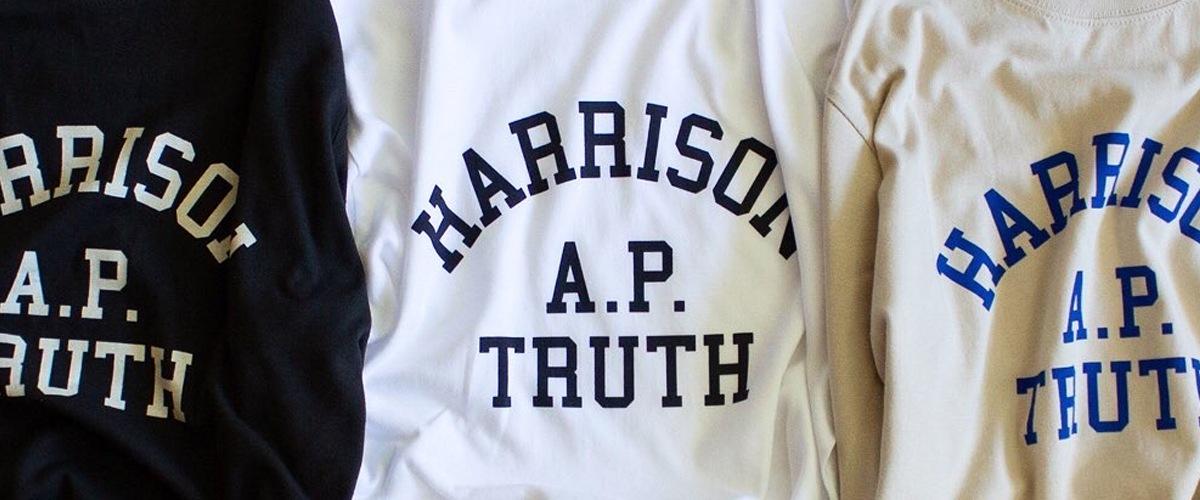 HARRISONロゴ長袖Tシャツ