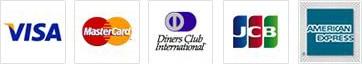 VISA / mastercard / AMERICAN EXPRESS / Diners Club / JCB
