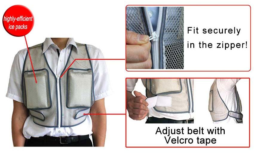 Cooling vest Horei Vest V2 detail piture