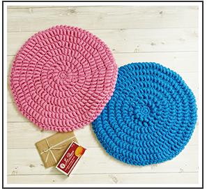 コイル編みのシンプル円座
