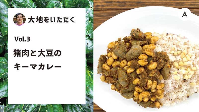豚肉と大豆のキーマカレー