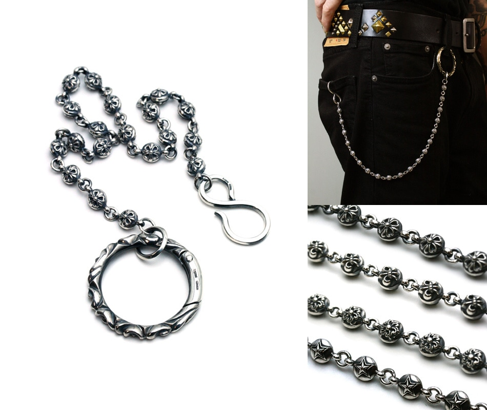 Argent Gleam Classic Ball Base Walletchain Series