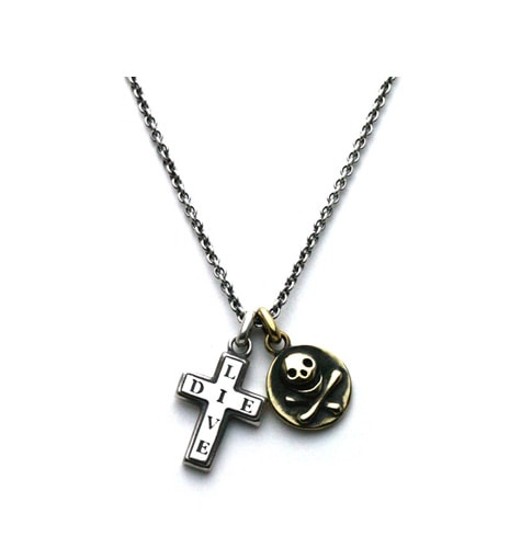 Skull&Cross Necklace / Silver925xBrass