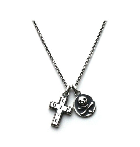 Skull&Cross Necklace / Silver925