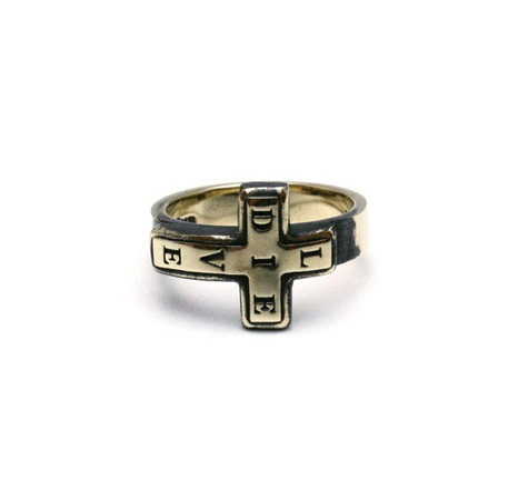 Live-Die Cross Ring / Brass
