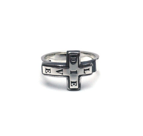 Live-Die Cross Ring / Silver925