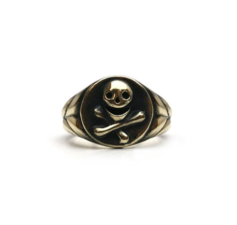 Laughing Skull Ring / Brass