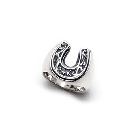 OLD HORSE SHOE RING Small(Silver)