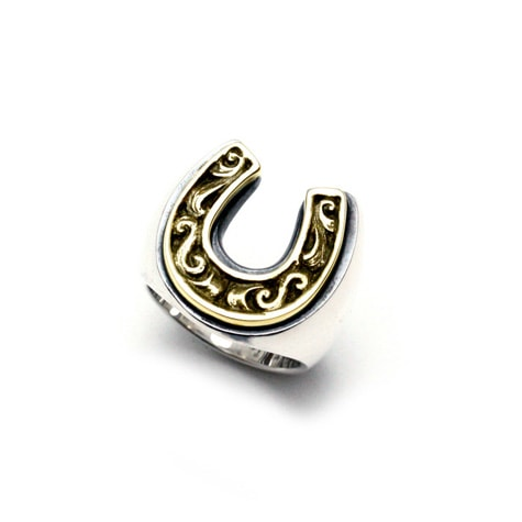 OLD HORSE SHOE RING Large(Silver/Brass)