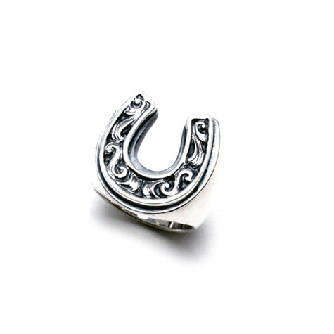 OLD HORSE SHOE RING Large(Silver)