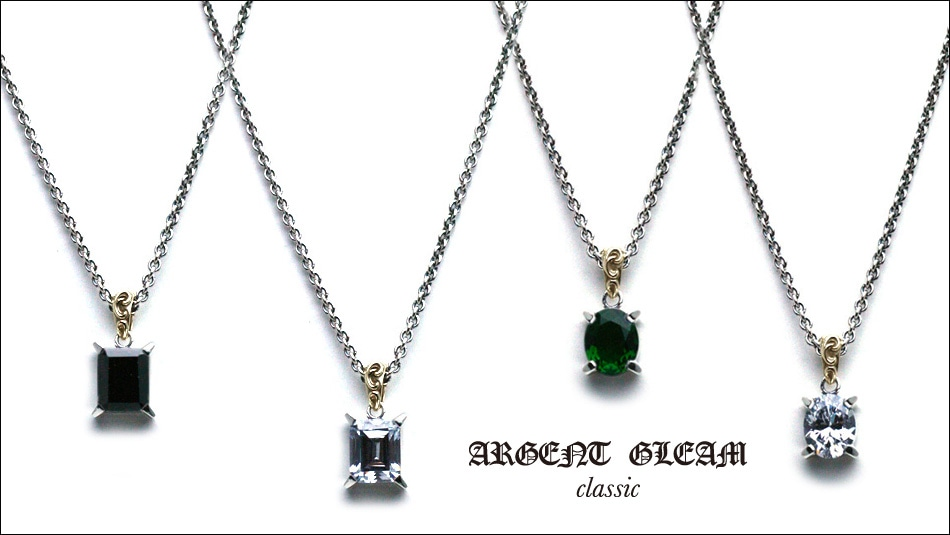 ArgentGleam Classic Stone Necklace Collection