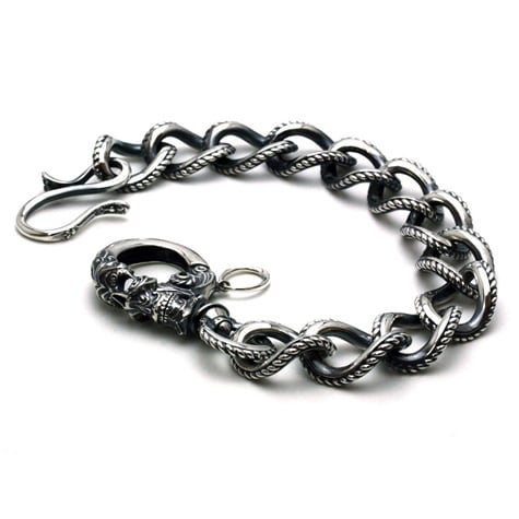 Gleed Skull Walletchain Silver / オニキス