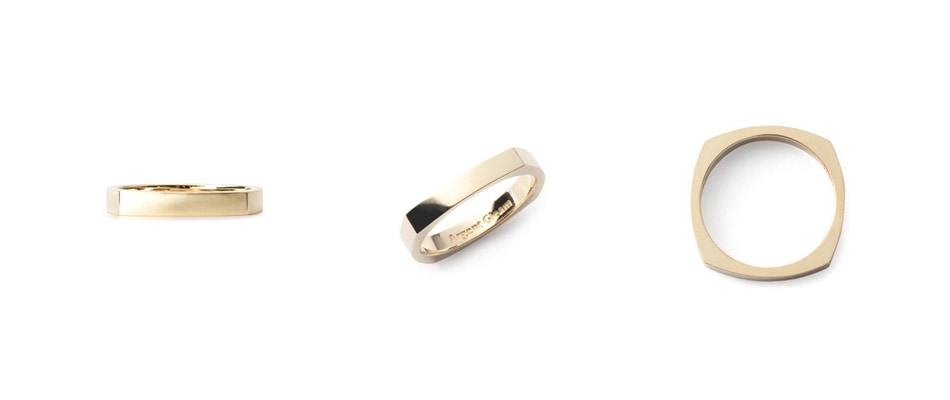 4Faces Ring K10Yellow Gold