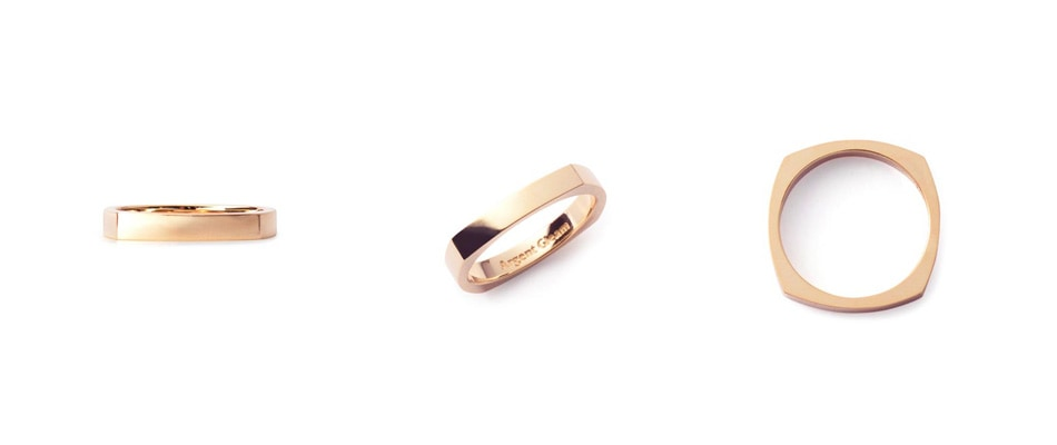 4Faces Ring K18Pink Gold