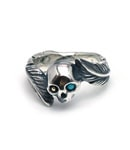 Skull Feather Ring