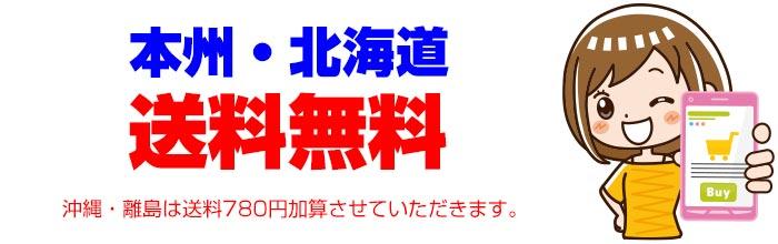 北海道・本州は送料無料です。