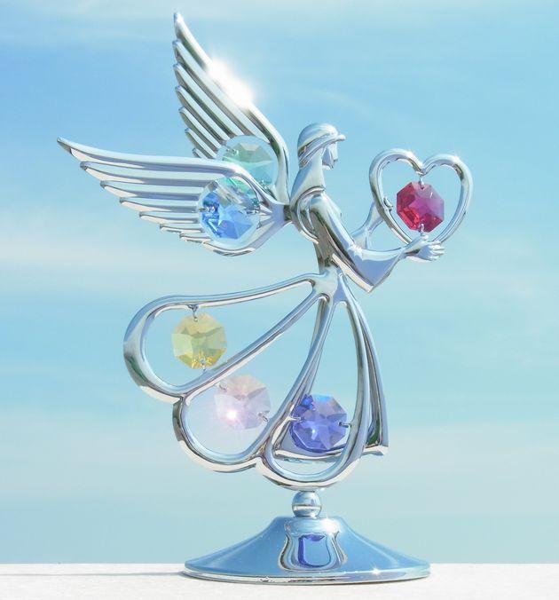 誕生日プレゼント/スワロフスキー/天使の置物8-1