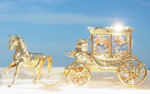 誕生日プレゼント/スワロフスキー/馬車の置物11-2