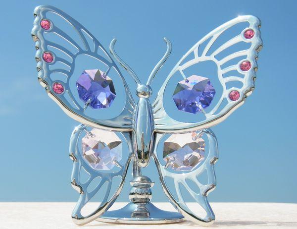 誕生日プレゼント/スワロフスキー/大きな蝶の置物2-1