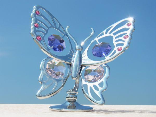 誕生日プレゼント/スワロフスキー/大きな蝶の置物2-2