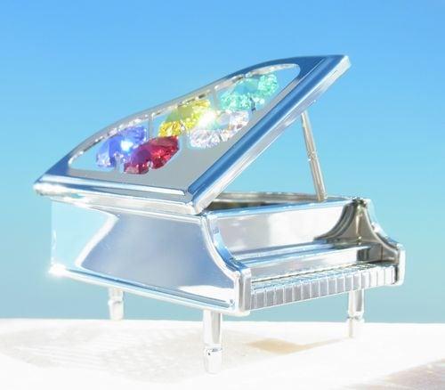 誕生日プレゼント/スワロフスキー/ピアノの置物11-1