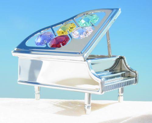誕生日プレゼント/スワロフスキー/ピアノの置物11-2