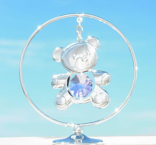 誕生日プレゼント/スワロフスキー/クマさんの置物r1-1