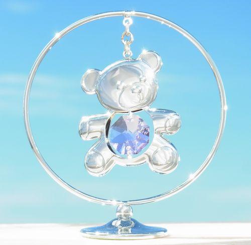 誕生日プレゼント/スワロフスキー/クマさんの置物r1-2