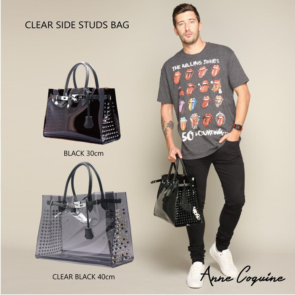 クリアSIDE STUDS BAG