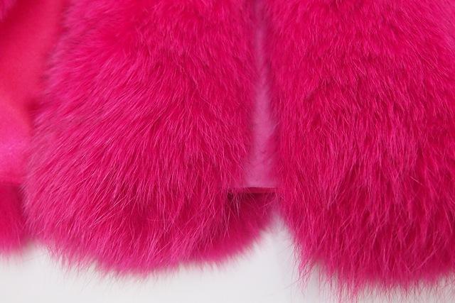 ピンク毛並み