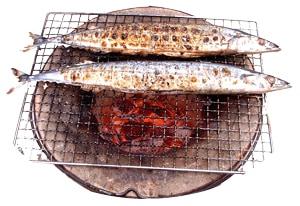 炭火で焼くとおいしい魚